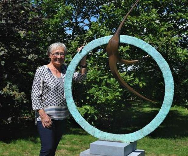 Kunst in Mia's beeldentuin in Oudenburg