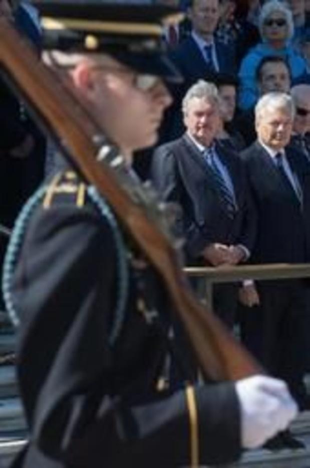 70e anniversaire l'OTAN - A Washington, Reynders rend hommage aux soldats tombés lors de la Bataille des Ardennes