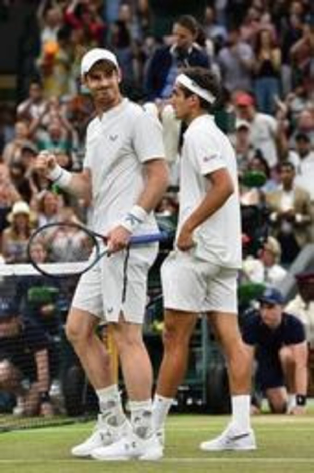 Wimbledon - Any Murray wint dubbelmatch bij rentree op Wimbledon