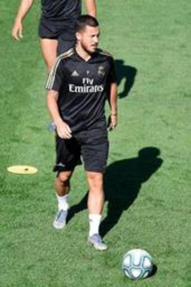 Eerste competitiematch van Eden Hazard bij Real Madrid op groot scherm aan Atomium