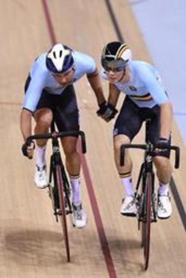Europese Spelen - Moreno De Pauw en Fabio Van den Bossche vallen net naast het podium in ploegkoers