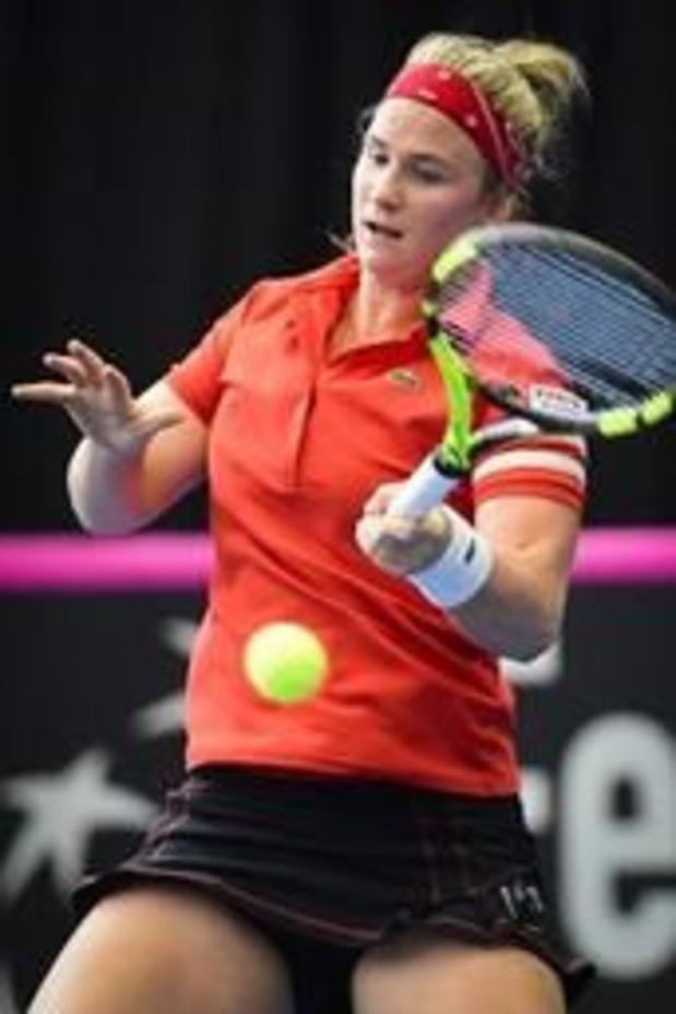Ysaline Bonaventure rejoint Alison Van Uytvanck en quarts à Rabat