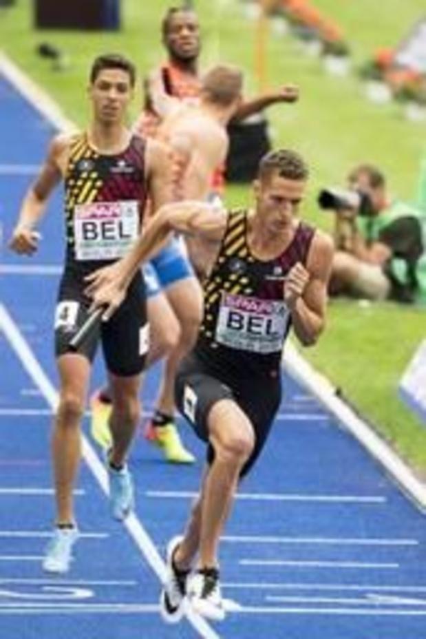 Les Belgian Tornados 3e du 4x400 m, victoire de Trinité-et-Tobago