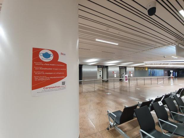 Contrôle de température systématique pour tous les passagers à Brussels Airport