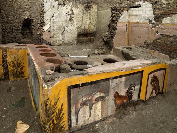 Pompeï: antieke snackbar ontdekt