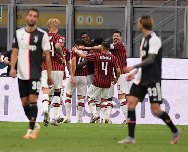 La Juventus mène 0-2 avant d'être balayée 4-2 à l'AC Milan d'Alexis Saelemaekers