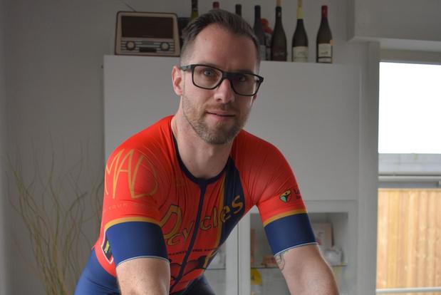 Dieter Vercaemer fietst 12 uur op rollen voor De Graankorrel Kruiseke