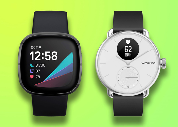 Test: Fitbit Sense face à Withings ScanWatch - ni gagnant ni perdant