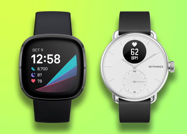 Review: Fitbit Sense vs. Withings ScanWatch - Geen winnaars, geen verliezers