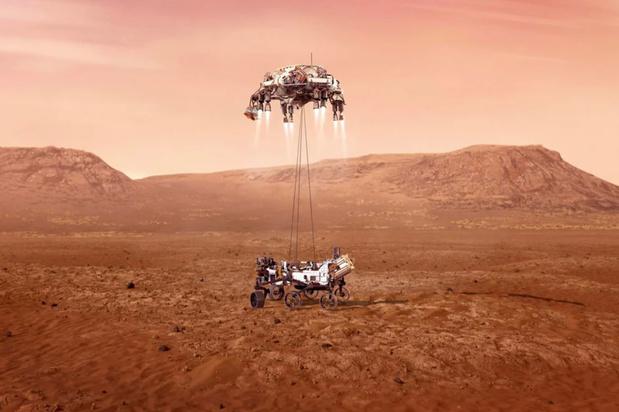 Amerikaanse verkenner landt op planeet Mars