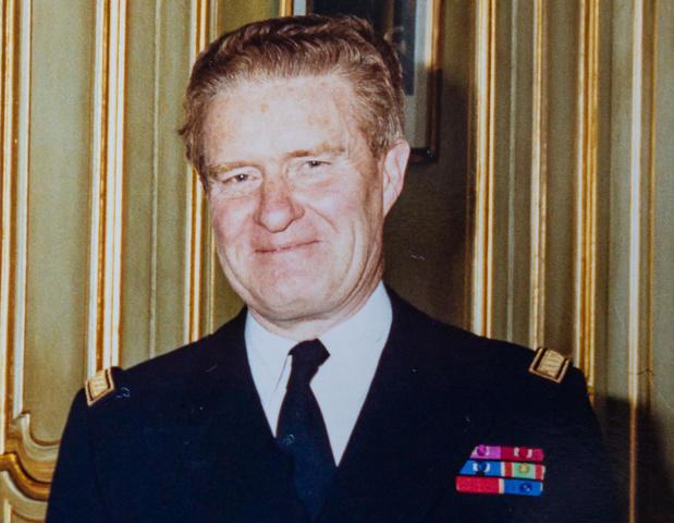 Afscheid van vice-admiraal Edmond Poullet