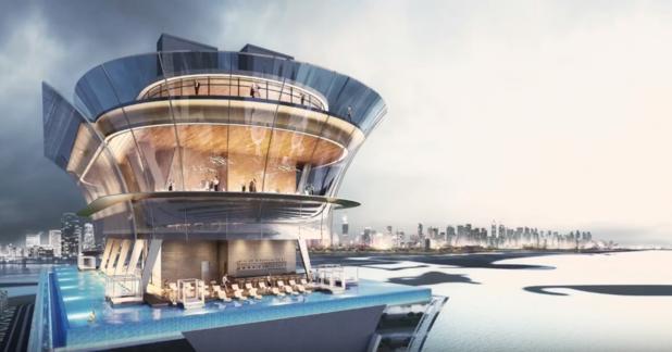 Dubai opent een van de hoogste infinity pools ter wereld