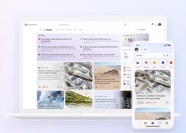 Microsoft Start: le nouveau flux de données personnalisable