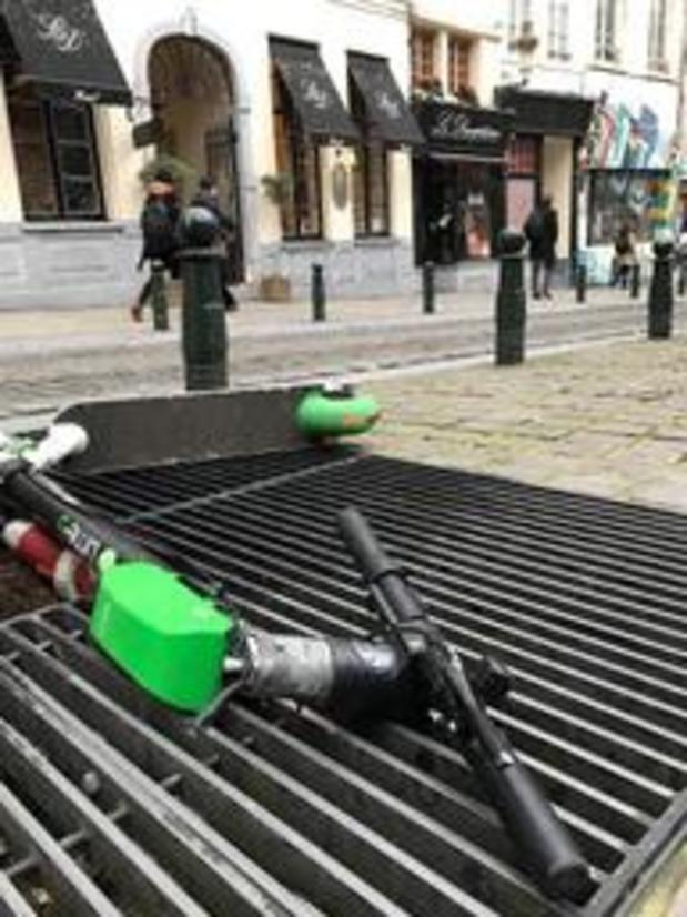 La grande hécatombe des trottinettes électriques à Bruxelles