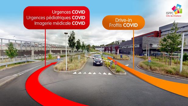 Le CHU de Charleroi ouvre un centre de prise en charge du Covid