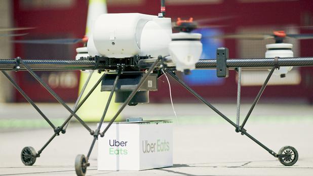 Uber va tester la livraison de repas par des drones