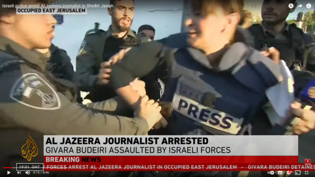 Journaliste Al Jazeera opgepakt bij protesten in wijk Sheikh Jarrah in Oost-Jeruzalem
