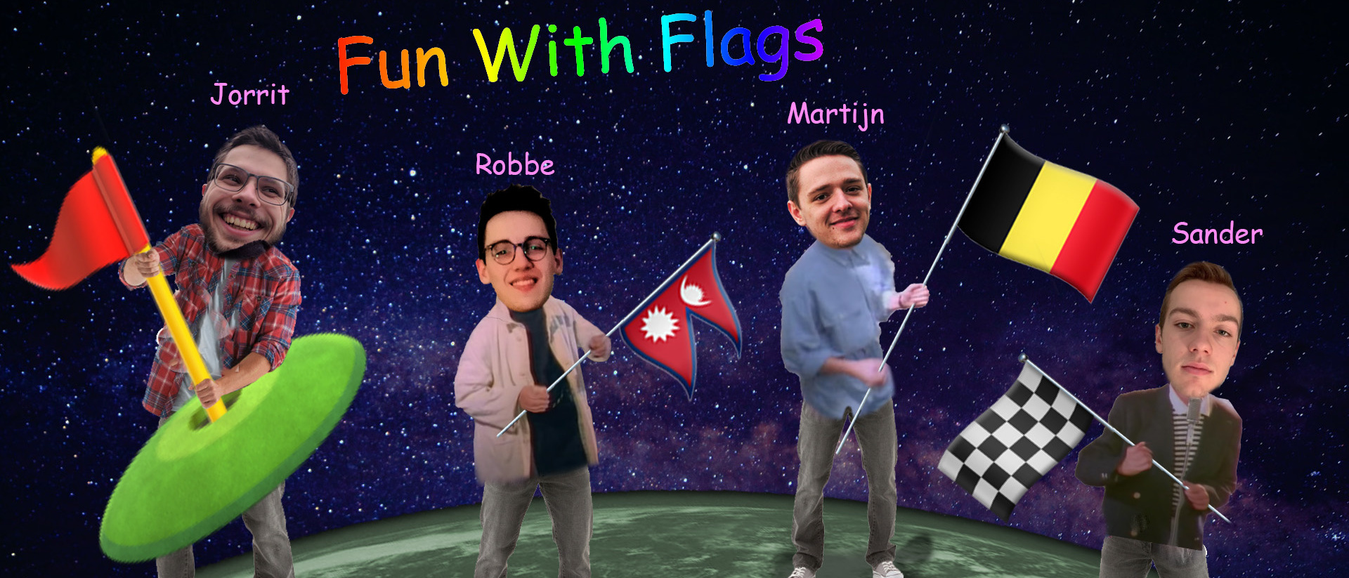 Het winnende team 'Fun With Flags', CSCBE