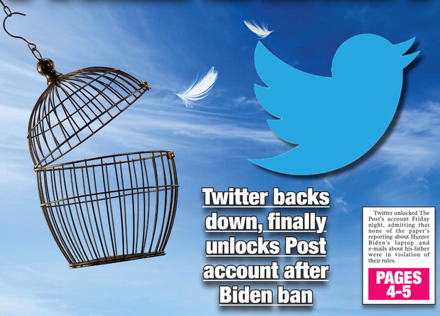 Twitter heft blokkade van account New York Post op