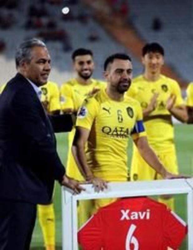 Xavi a disputé le dernier match de sa carrière à Téhéran