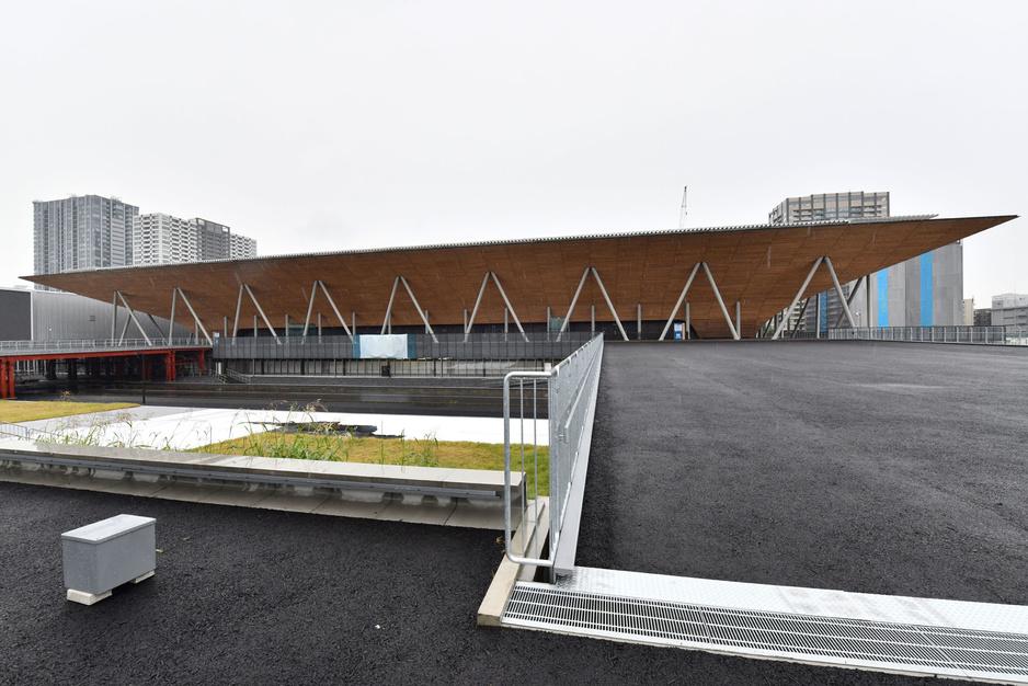 En images: l'Ariake Gymnastics Centre, construit pour les JO de Tokyo 2020