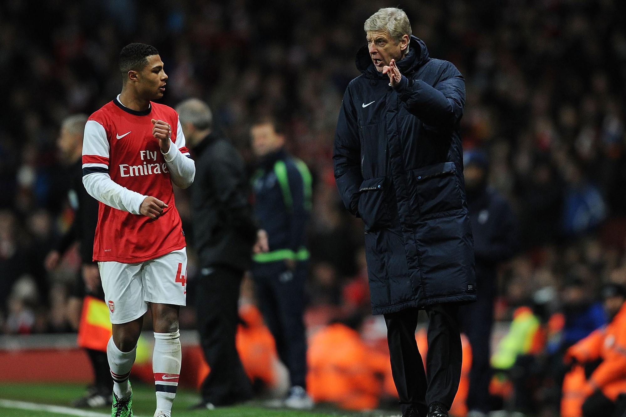 Arsène Wenger heeft een boon voor Gnabry en hij geeft hem sporadisch minuten., GETTY