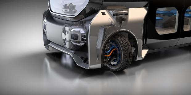 Pivoterende wielen voor bussen en bestelwagens