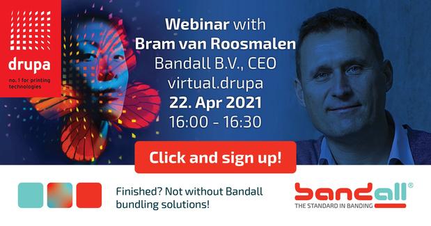 Le Webinaire de Bandall porte sur le regroupement de produits durables et sans dommages lors du salon virtual.drupa 2021