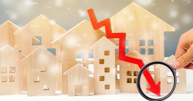 Les ventes de nouvelles maisons en baisse de moitié depuis le début de la crise