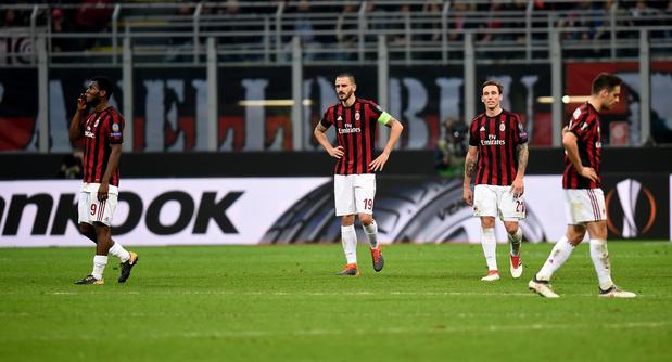 L'AC Milan exclu des compétitions européennes pour la saison 2019/2020