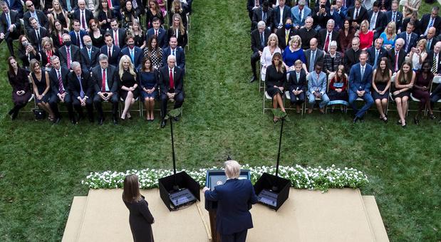 Was Witte Huis-ceremonie voor nieuwe hoge rechter een 'superspreading event'?
