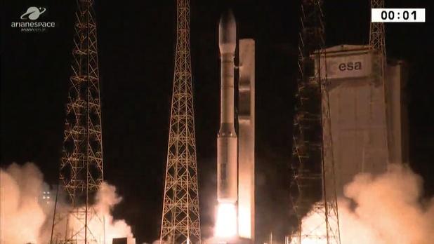 Europese Vega-raket stort neer