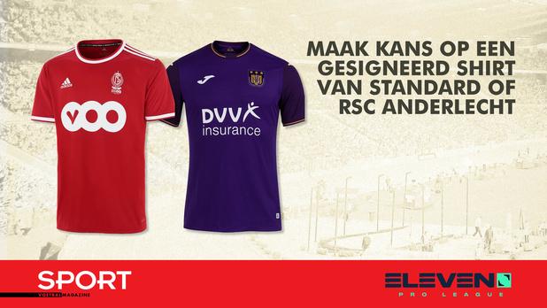 WIN een gesigneerd shirt van Standard of RSC Anderlecht