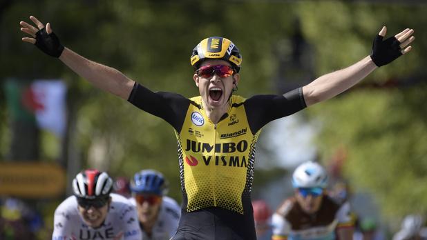 Wout van Aert derde Belgische winnaar in de Tour