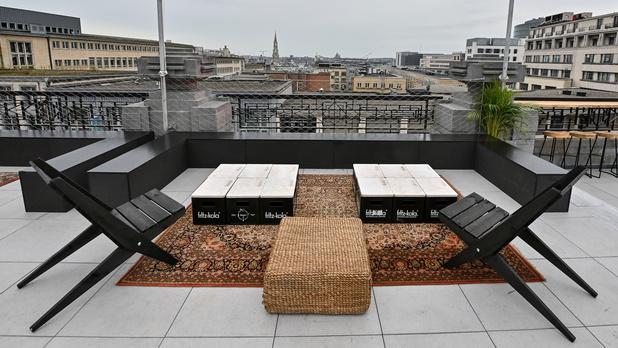 Sur le toit de Bozar, une terrasse offre une vue panoramique sur Bruxelles