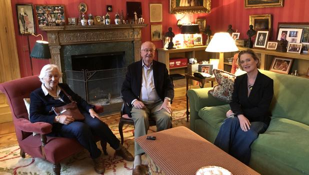 Le roi Albert et la reine Paola ont rencontré la princesse Delphine