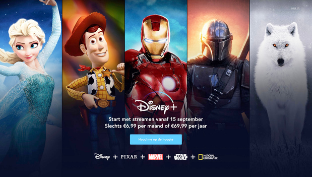 Netflix-rivaal Disney+ vanaf 15 september beschikbaar in België
