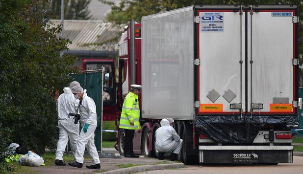 Le camion découvert avec 39 corps est arrivé de Zeebruges