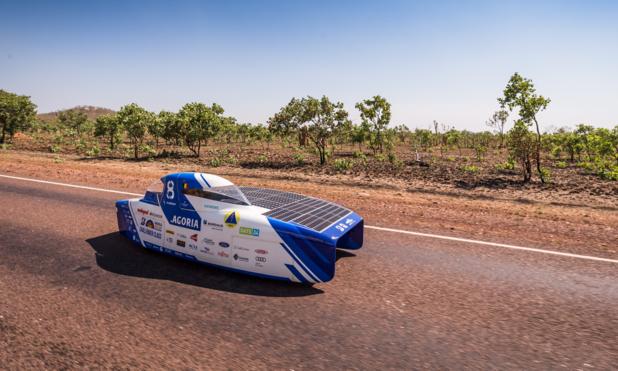 Une équipe belge occupe la troisième place du championnat du monde des voitures solaires
