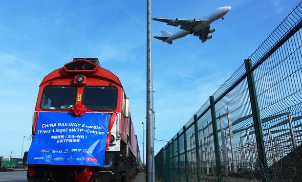 Le premier train en provenance de Chine est arrivé à Liège