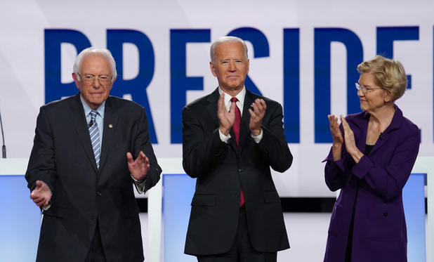Zijn Elizabeth Warren en Bernie Sanders te links om Trump te kunnen verslaan?