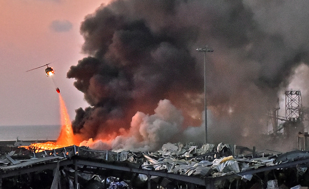 Beyrouth: une cargaison de 2.750 tonnes de nitrate d'ammonium à l'origine des explosions du port