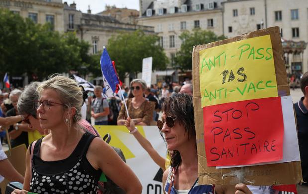 France: Encore 200 manifestations prévues ce week-end contre le pass sanitaire