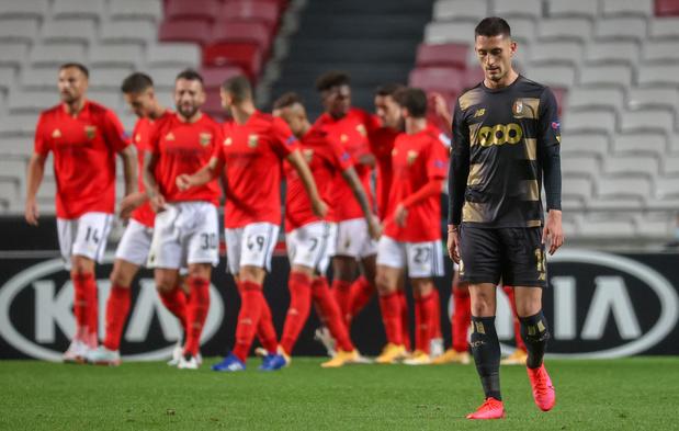 Le Standard sèchement battu à Benfica