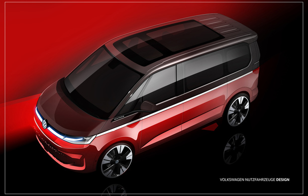 Le Volkswagen Multivan va passer à la septième génération