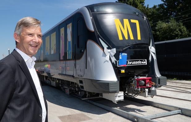 La STIB a reçu la première de ses futures rames de métro
