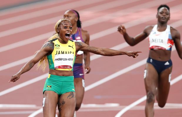 Tokyo 2020: médaille d'or et 2e chrono de l'histoire sur 100m pour Thompson-Herah