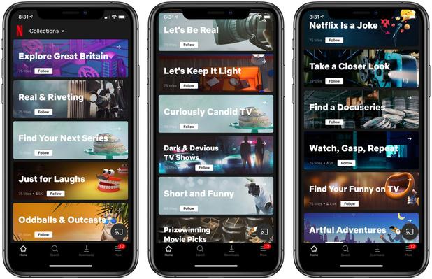 Netflix test door mensen samengestelde afspeellijsten