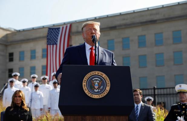 """18 ans après le 11-Septembre, Trump promet de frapper les talibans """"plus fort"""" que jamais"""