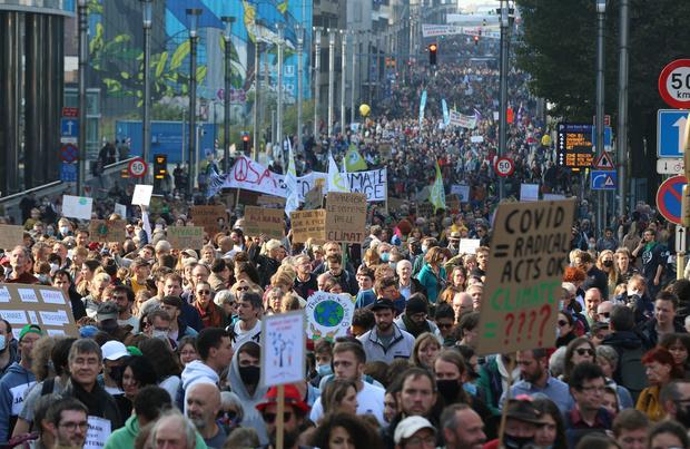 Marche pour le climat: environ 50.000 personnes à Bruxelles selon les organisateurs